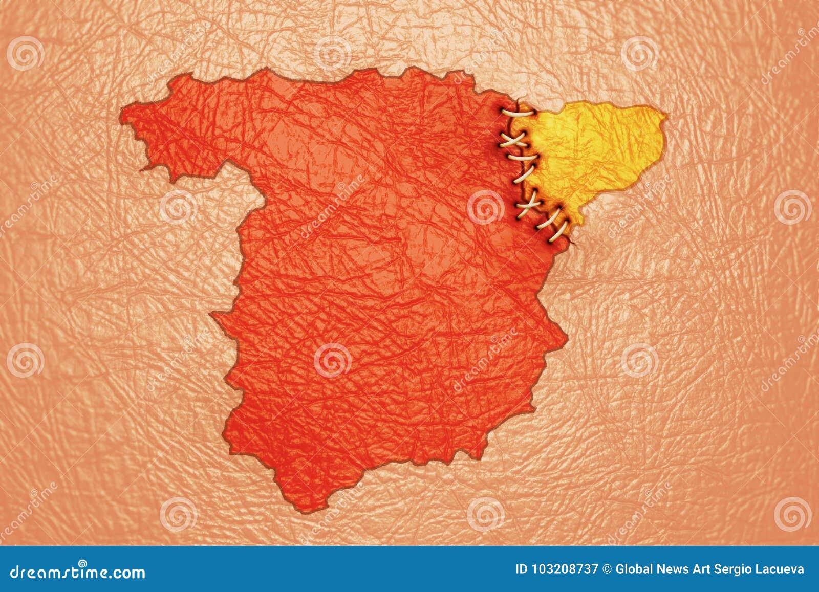 L Espagne Et Le Tatouage Et Les Points De La Catalogne Photographie Editorial Illustration Du Points Catalogne 103208737