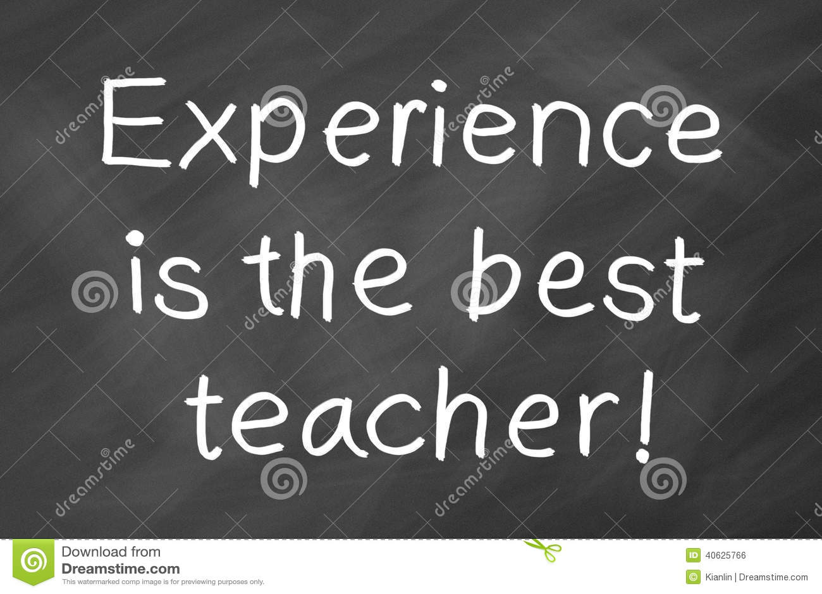 L esperienza è il migliore insegnante
