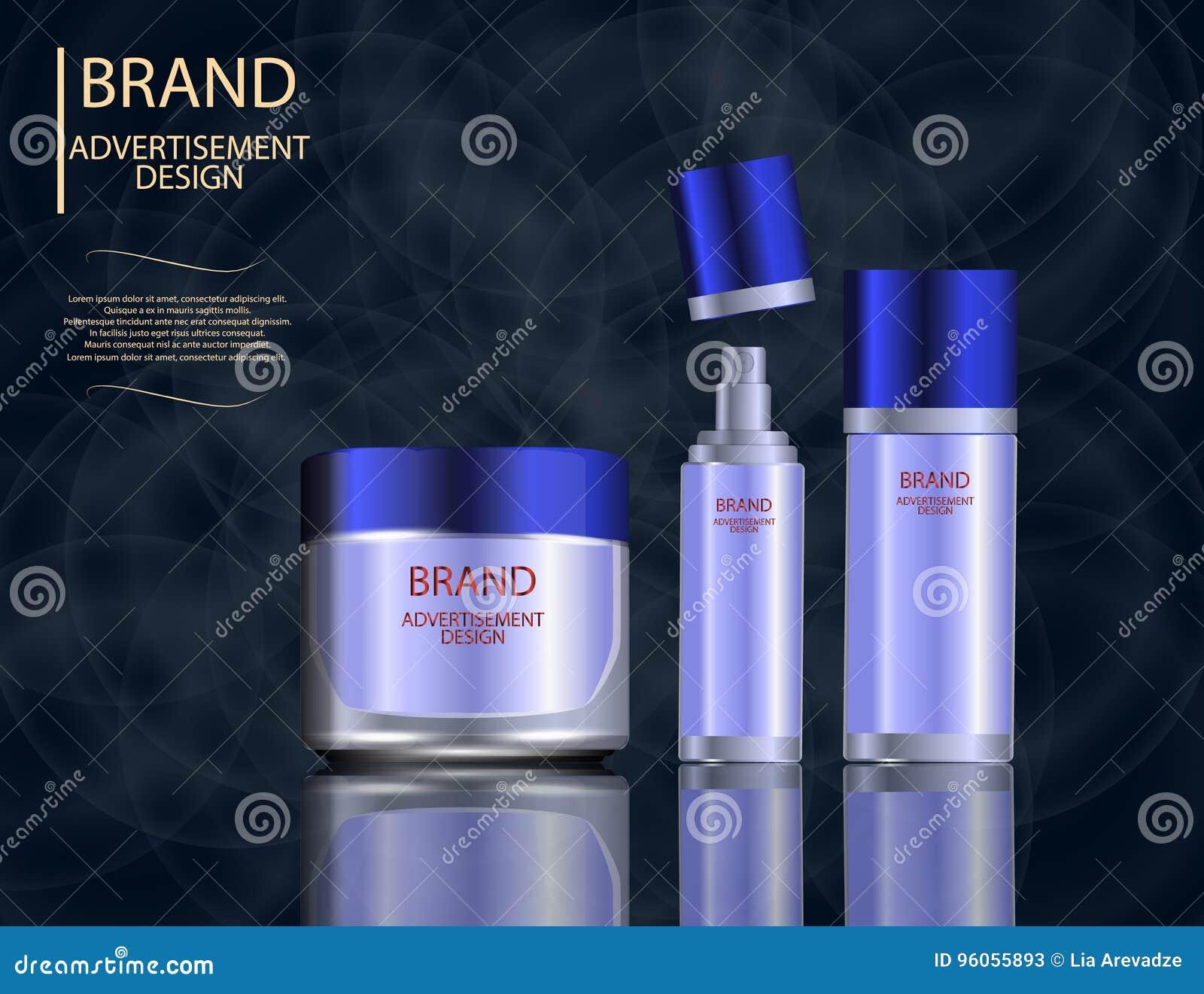 L essence faciale fascinante de traitement a placé sur le fond de scintillement d effets, annonces élégantes pour la conception