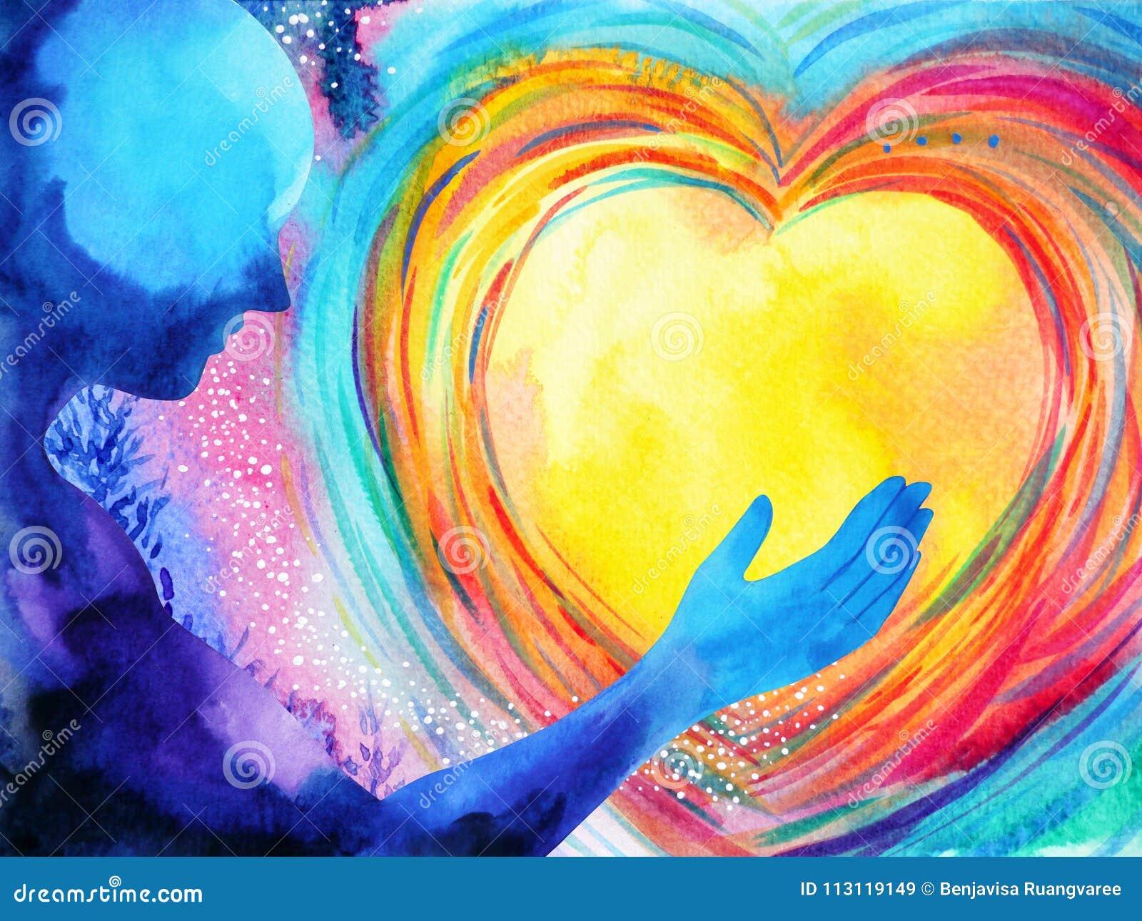 L essere umano e l energia potente di spirito di amore si collegano al potere dell universo