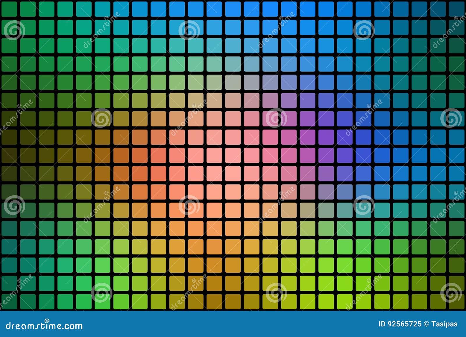 L estratto verde blu rosa ha arrotondato il fondo del mosaico sopra il nero