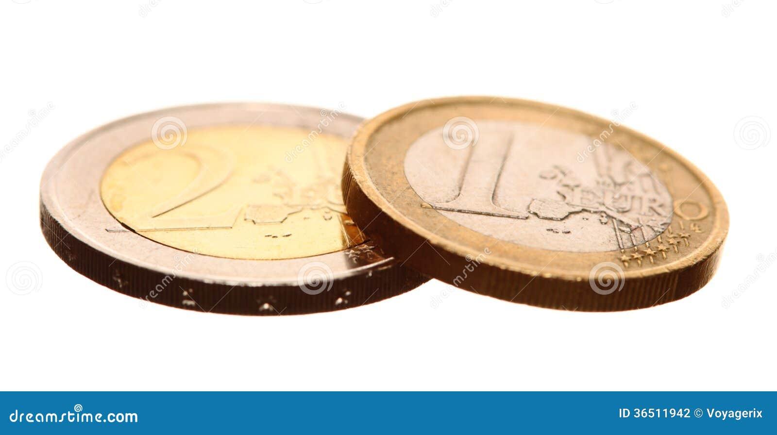 L euro européen de devise invente l argent sur le blanc