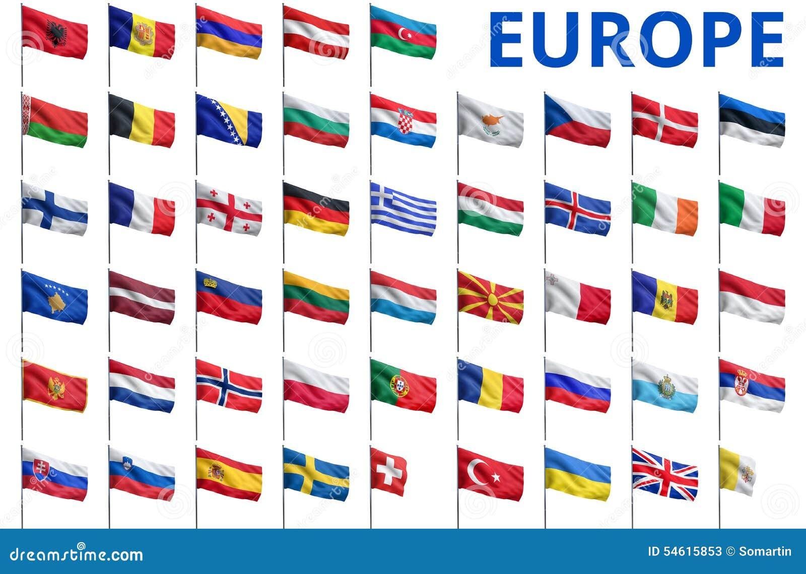 Exceptionnel L'Europe - Tous Les Drapeaux De Pays Illustration Stock - Image  ID51