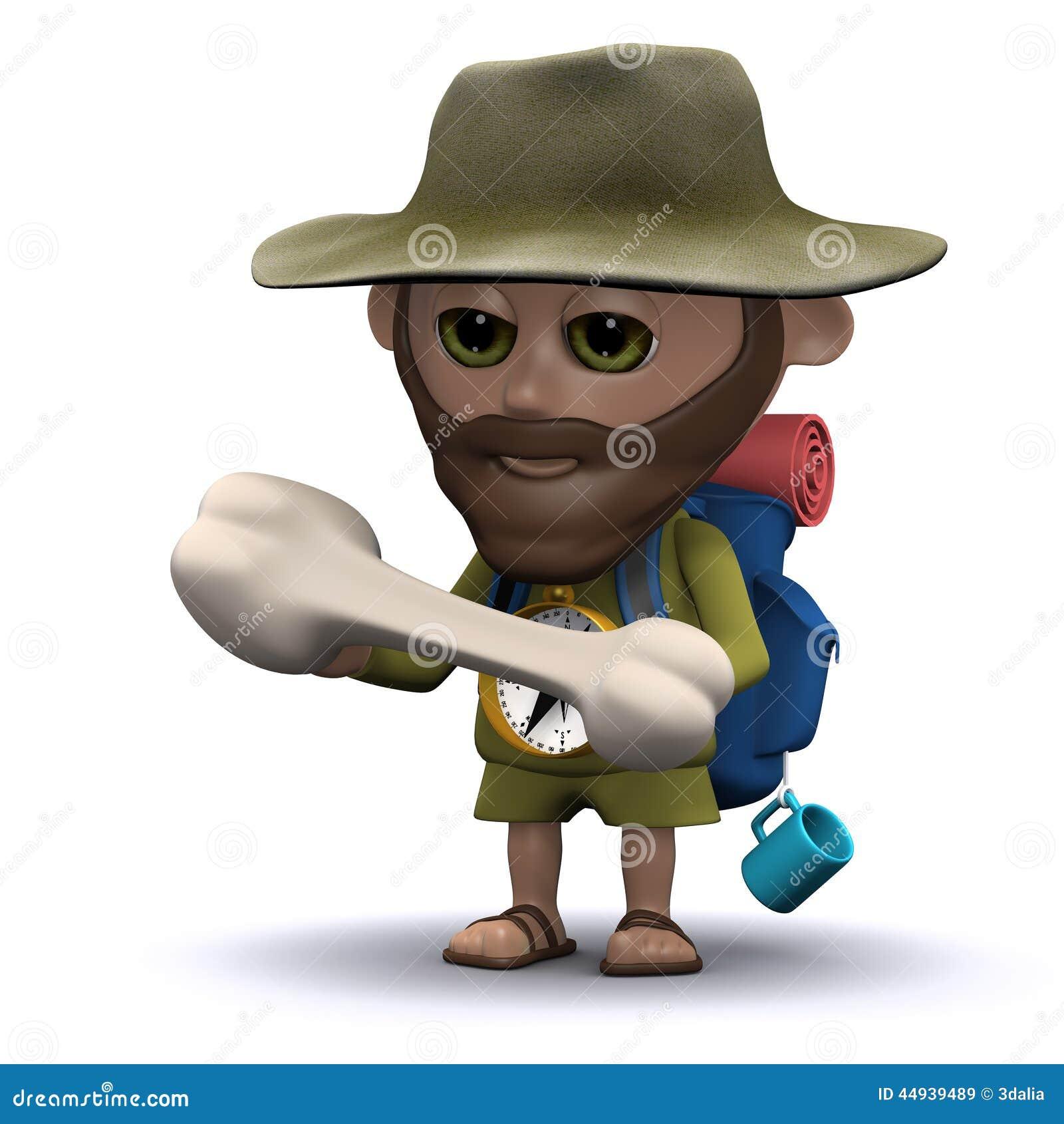 L explorateur 3d trouve un os