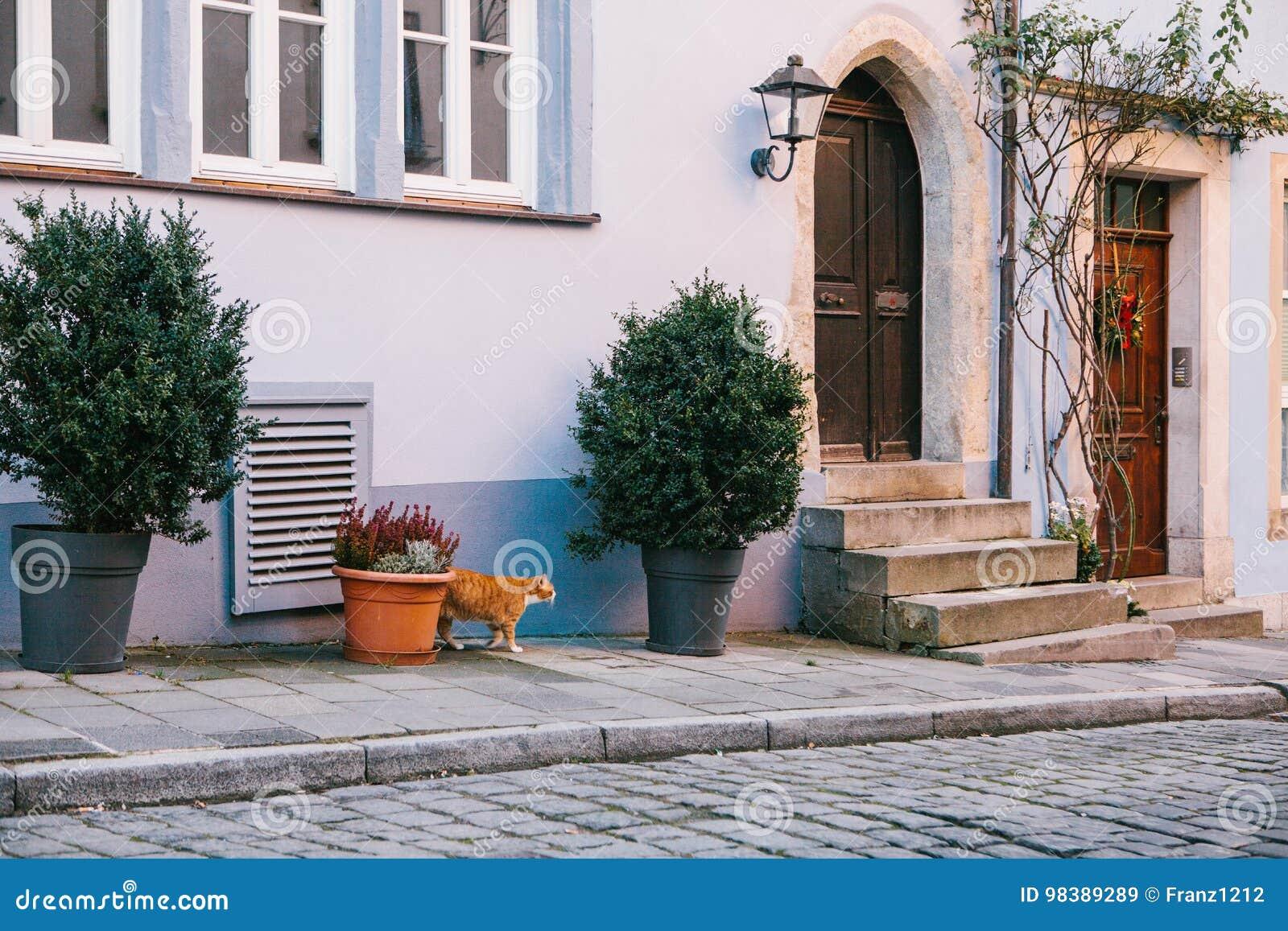 L Exterieur D Une Belle Maison Bleue Traditionnelle Simple Avec Des