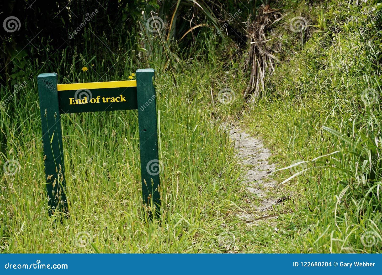 L extrémité de la voie se connectent une voie de marche du Nouvelle-Zélande