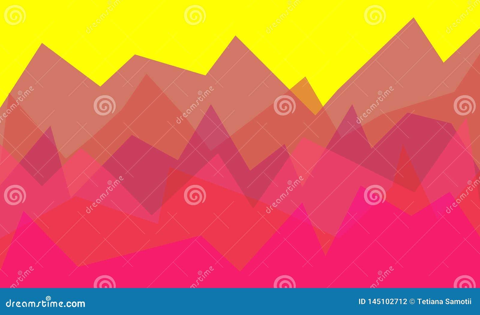 L?g-Poly berglandskap Psykedeliska lilor för lutning - Maya Blue L?g poly design Abstrakt polygonal