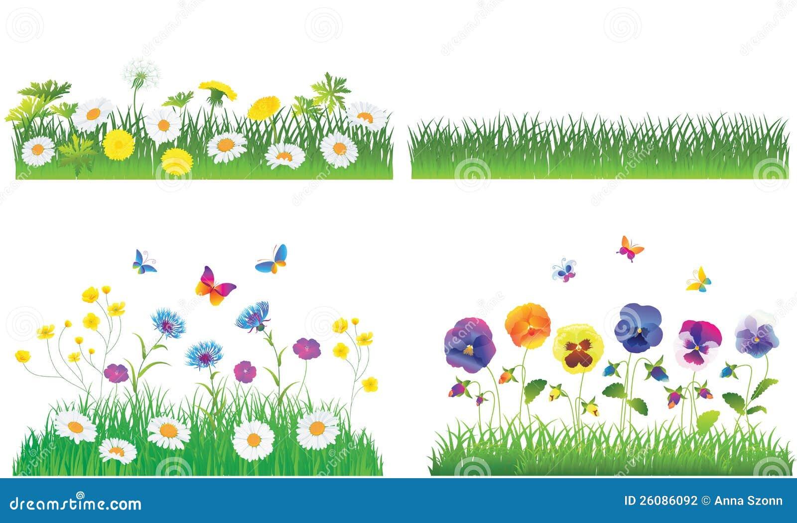 L'herbe Verte Et Les Fleurs. Photographie stock - Image ...