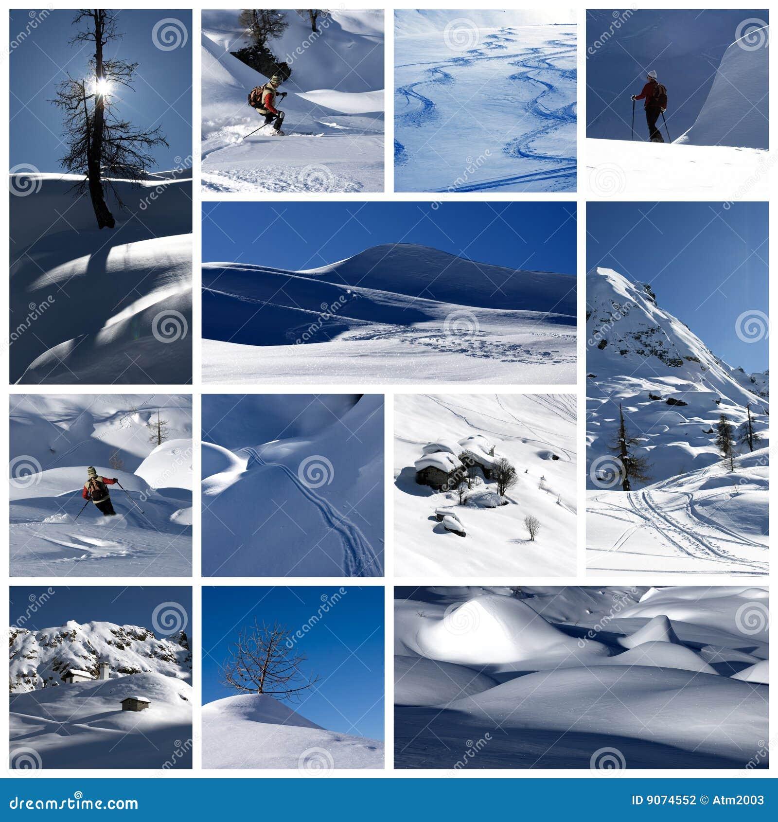 L hiver de collage