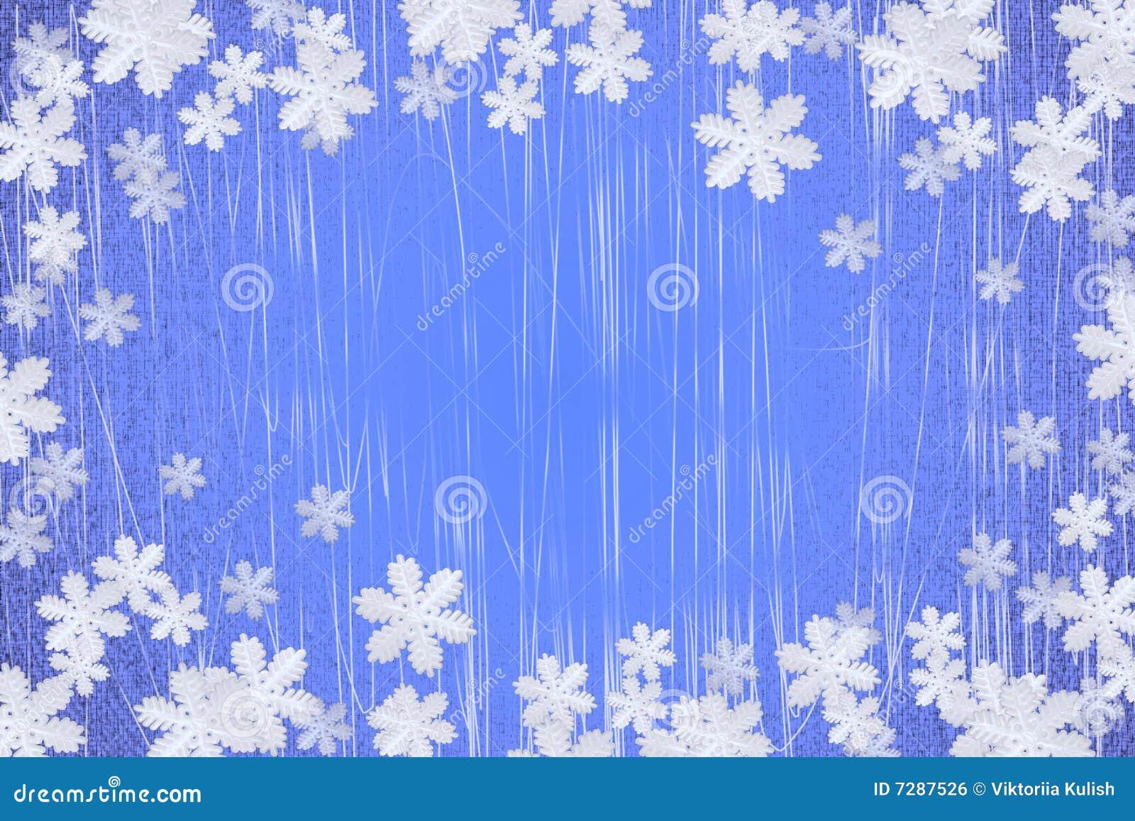 L hiver de flocon de neige de fond