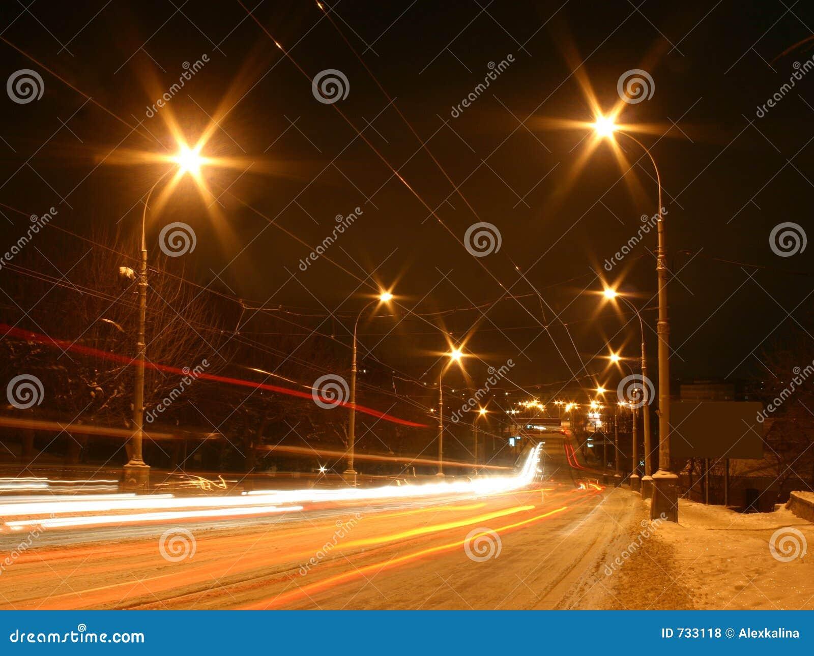 L hiver de scène de nuit