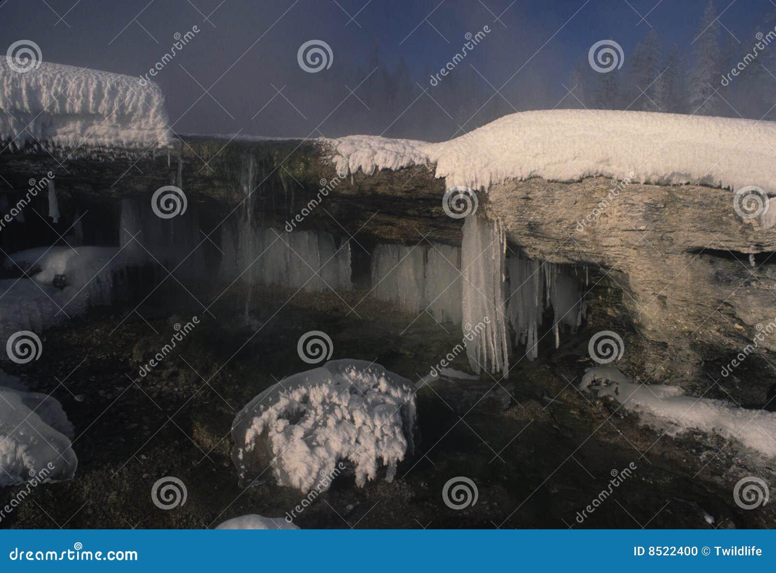L hiver glacial de scène
