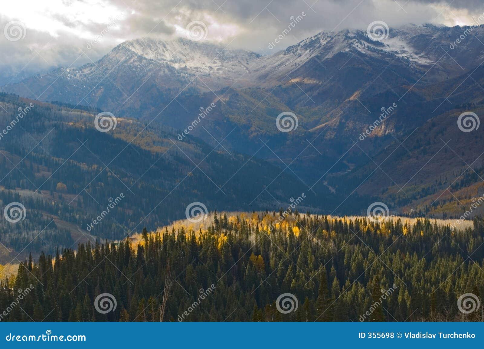 L hiver venant aux montagnes de l Utah