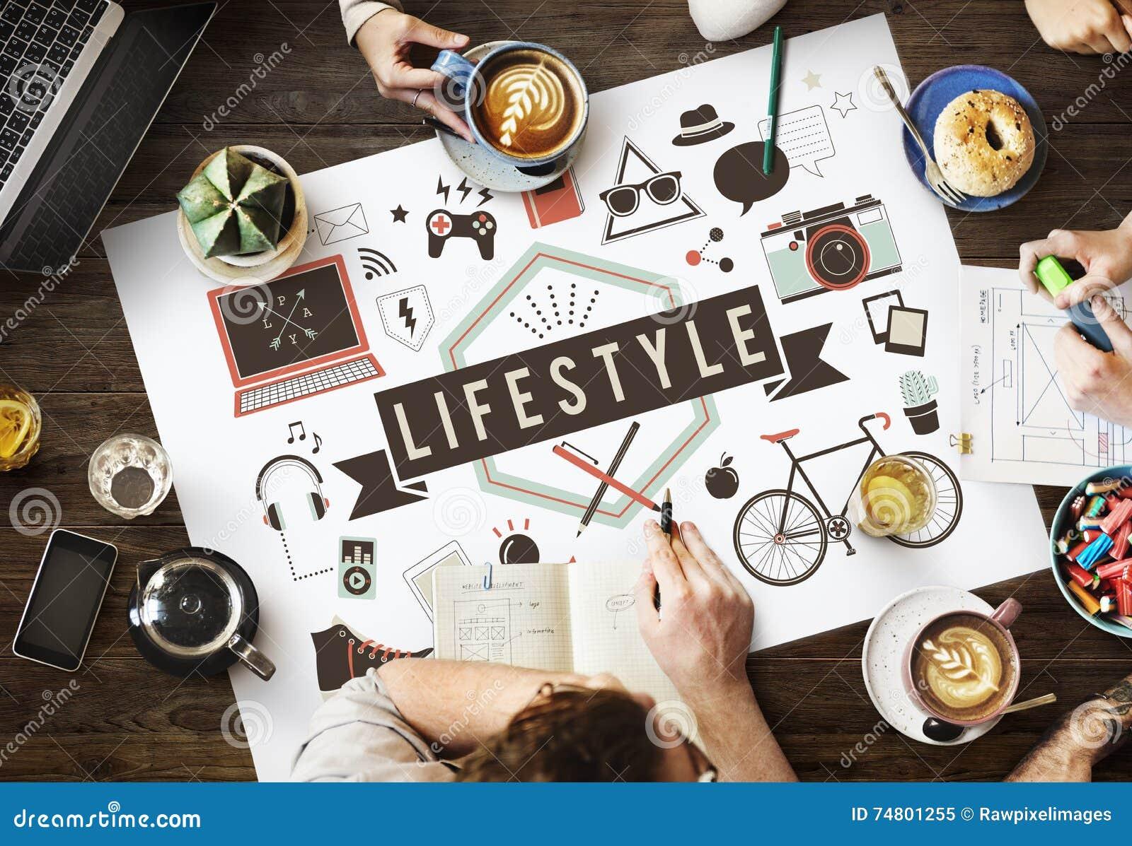 L hobby della cultura di comportamento di stile di vita interessa il concetto di modi