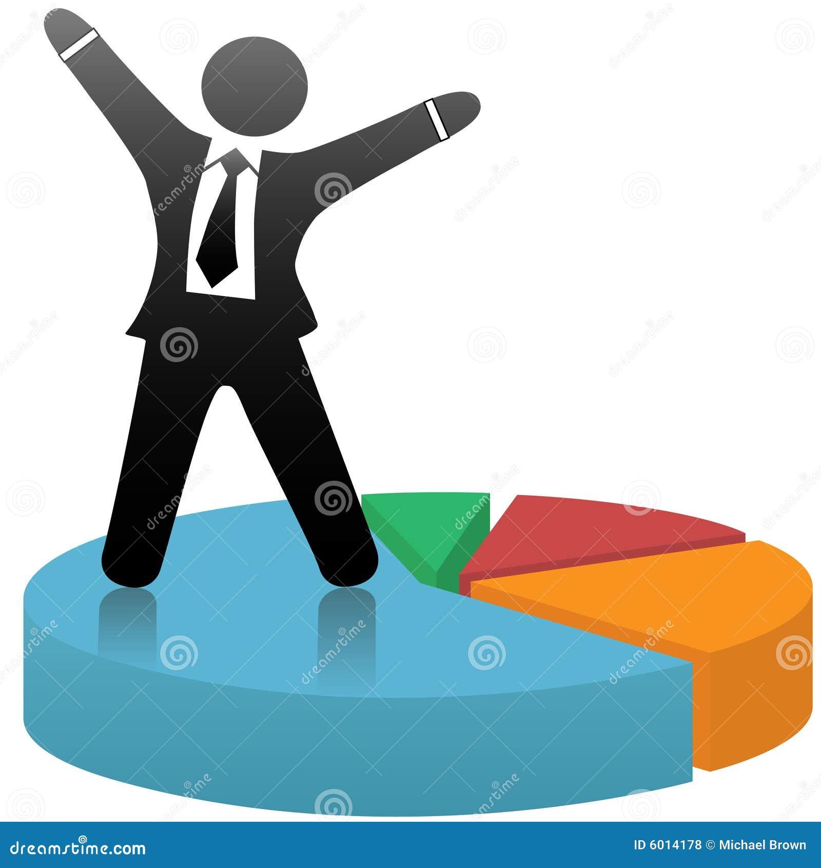 l u0026 39 homme d u0026 39 affaires c u00e9l u00e8bre le diagramme circulaire de succ u00e8s commercial photos libres de droits