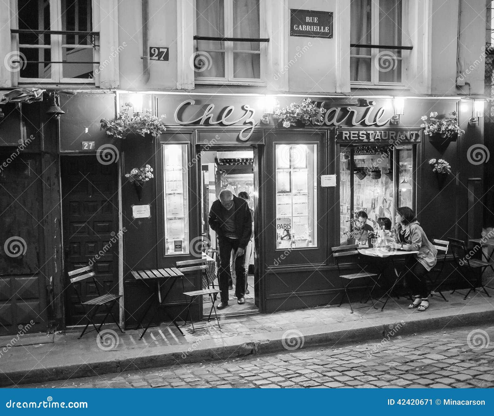 Restaurant Avec Menu A Montmartre Paris