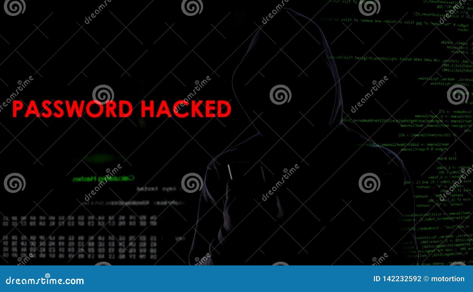 L homme secret a entaillé le compte client de banque de mot de passe, attaque d intimité, surveillance