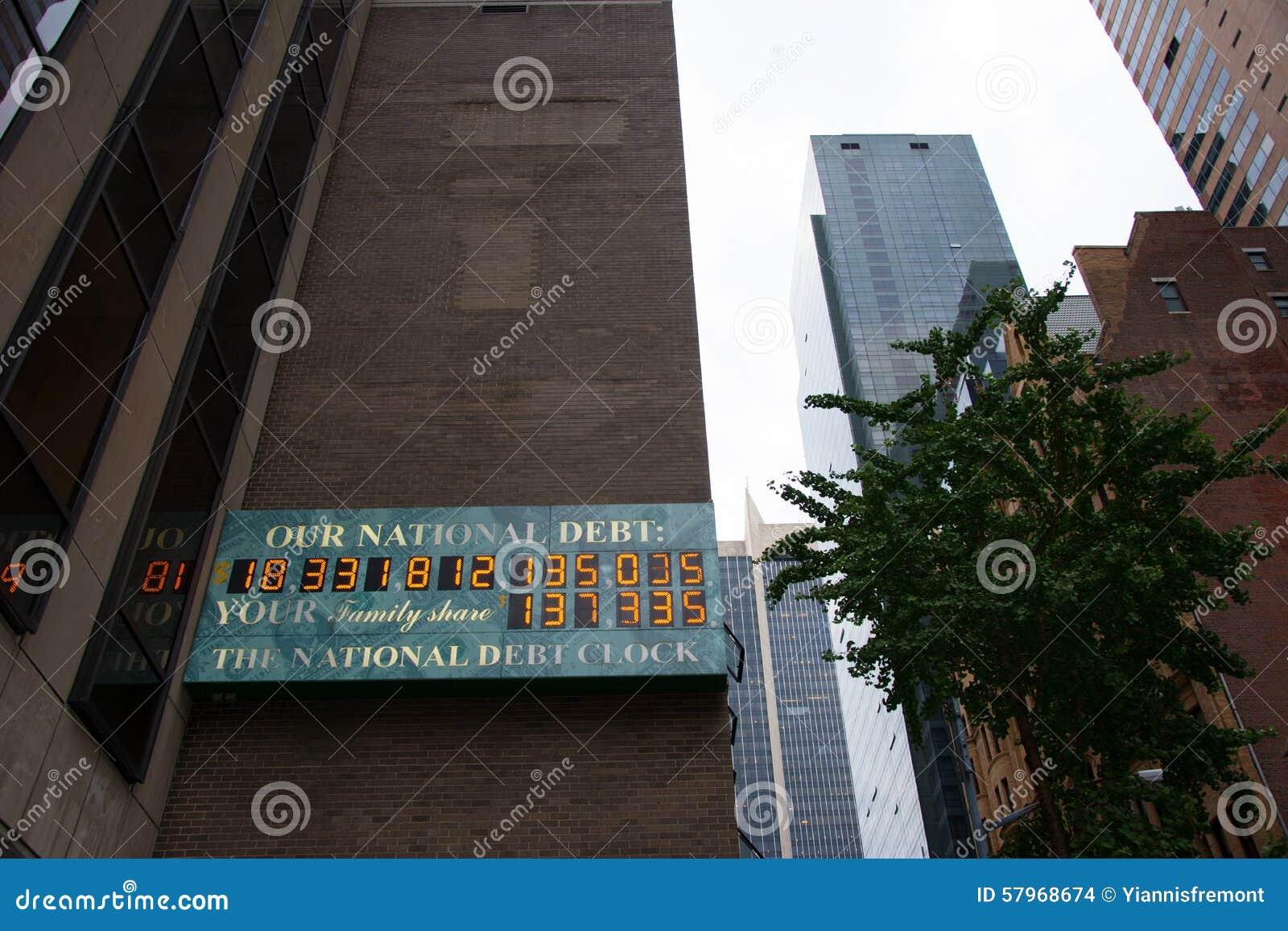 L horloge de dette nationale des USA