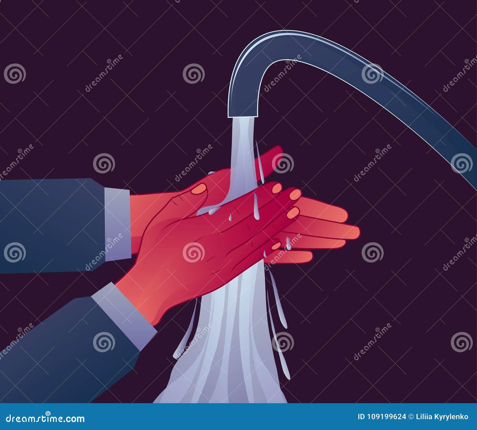 L hygiène personnelle, se lavent les mains sous la pression de l eau Prévention des maladies Symptôme d OCD