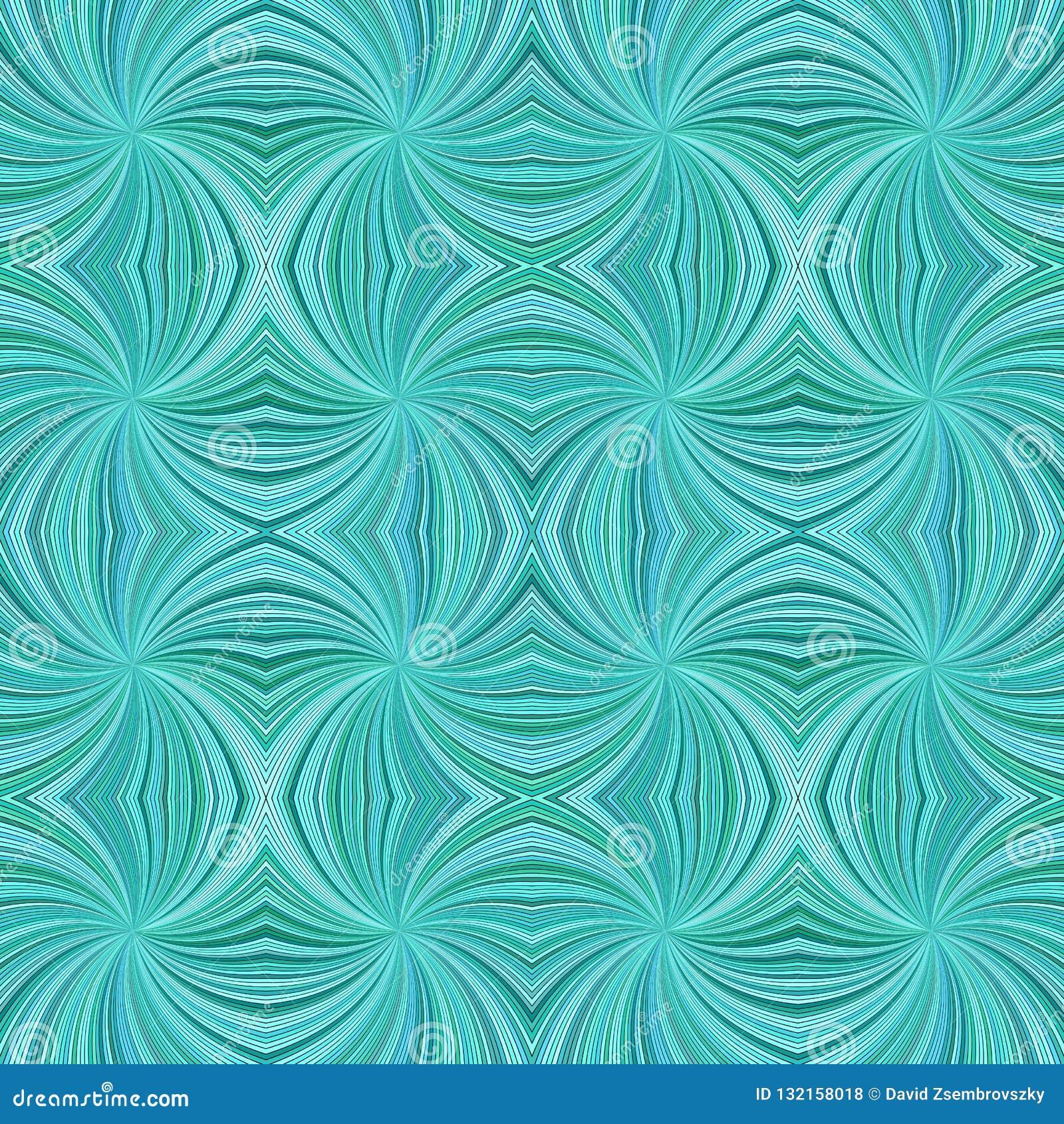 L hypnotique abstrait sans couture de turquoise a courbé le fond de modèle de rayure