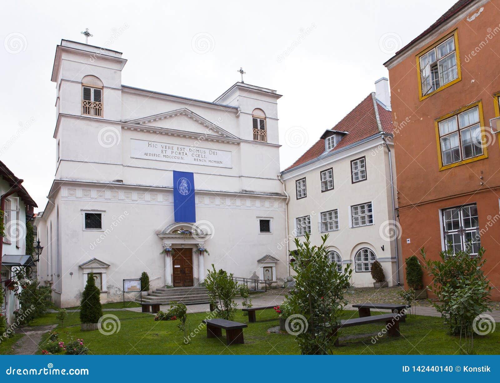 L iarda del monastero nella vecchia città Tallinn, Estonia