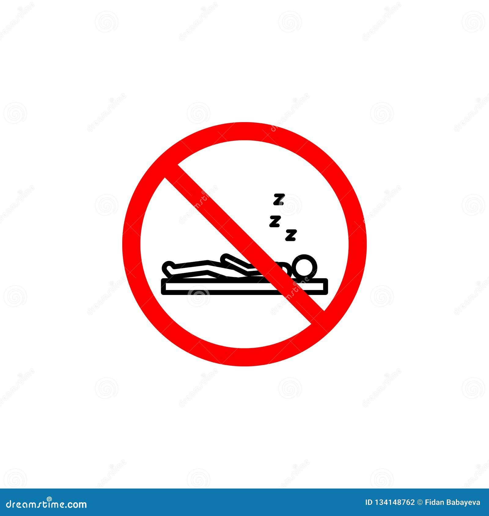 L icône interdite de sommeil peut être employée pour le Web, logo, l appli mobile, UI UX