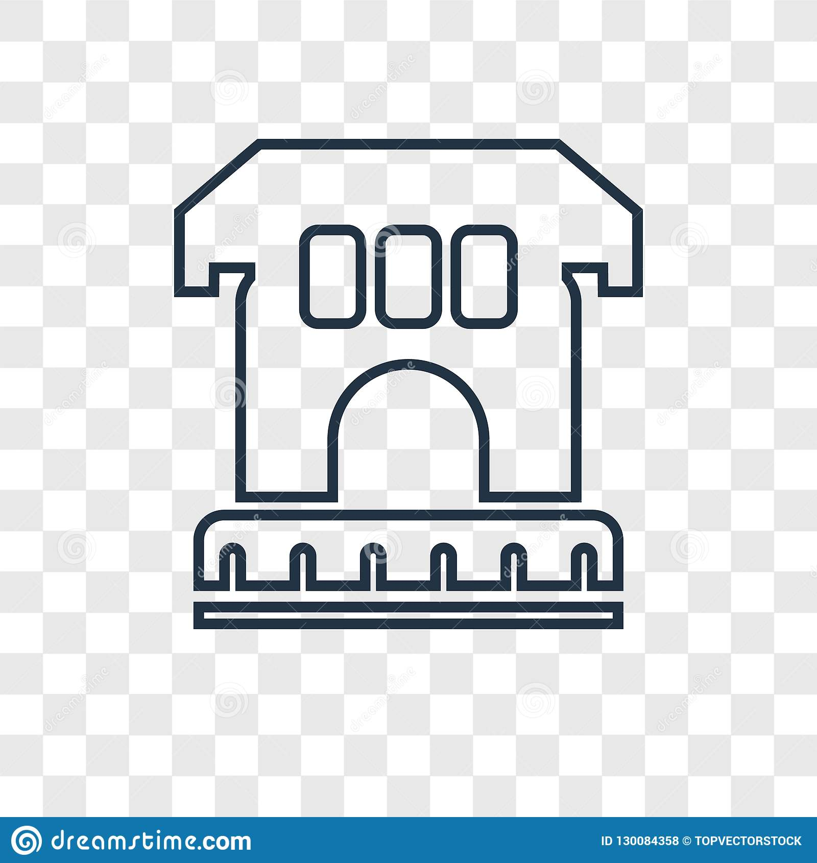 L icône linéaire de vecteur archéologique de concept d isolement dessus transparen