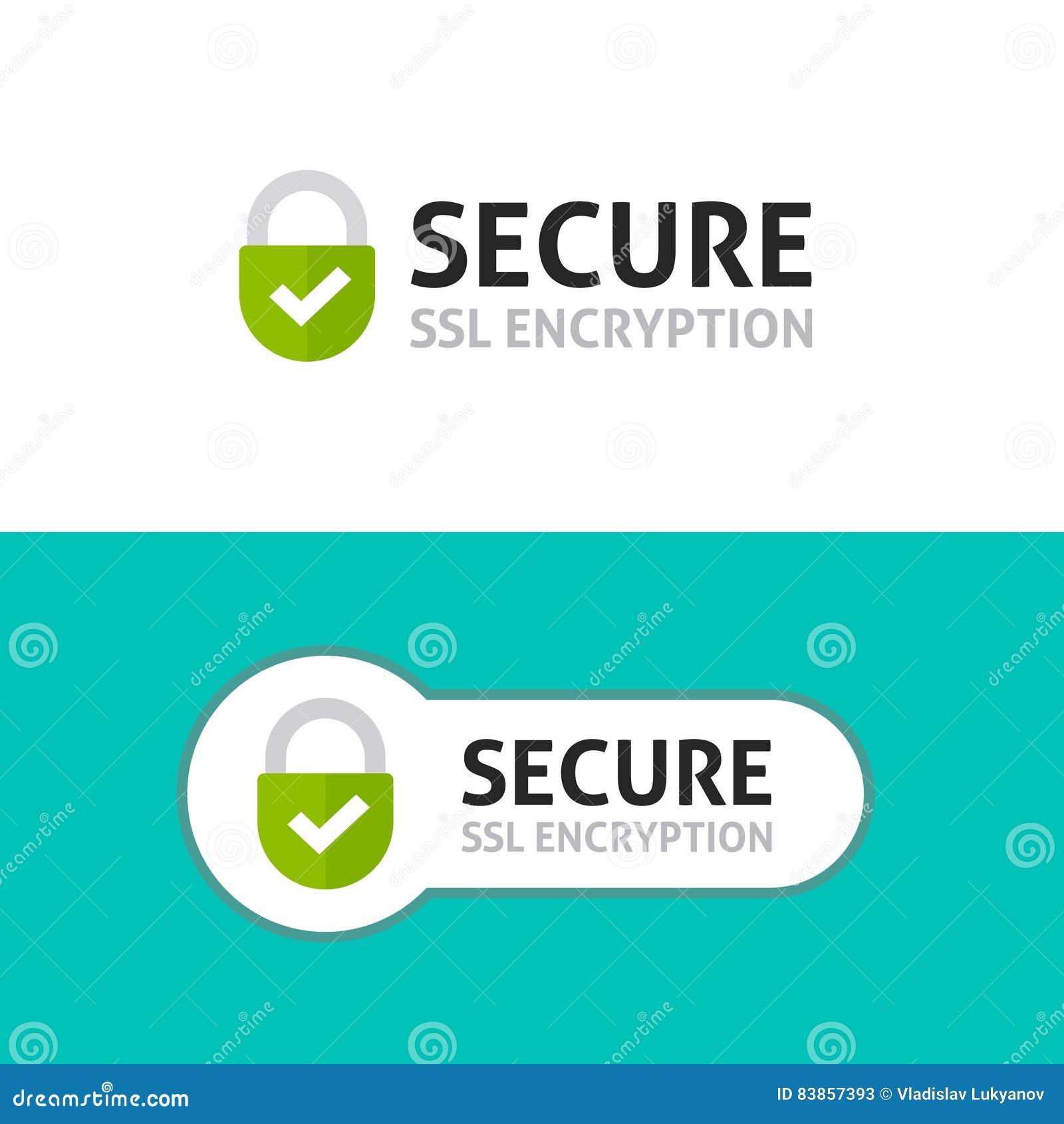 L icône de connexion sécurisée, SSL fixé a protégé le cryptage des données sûr