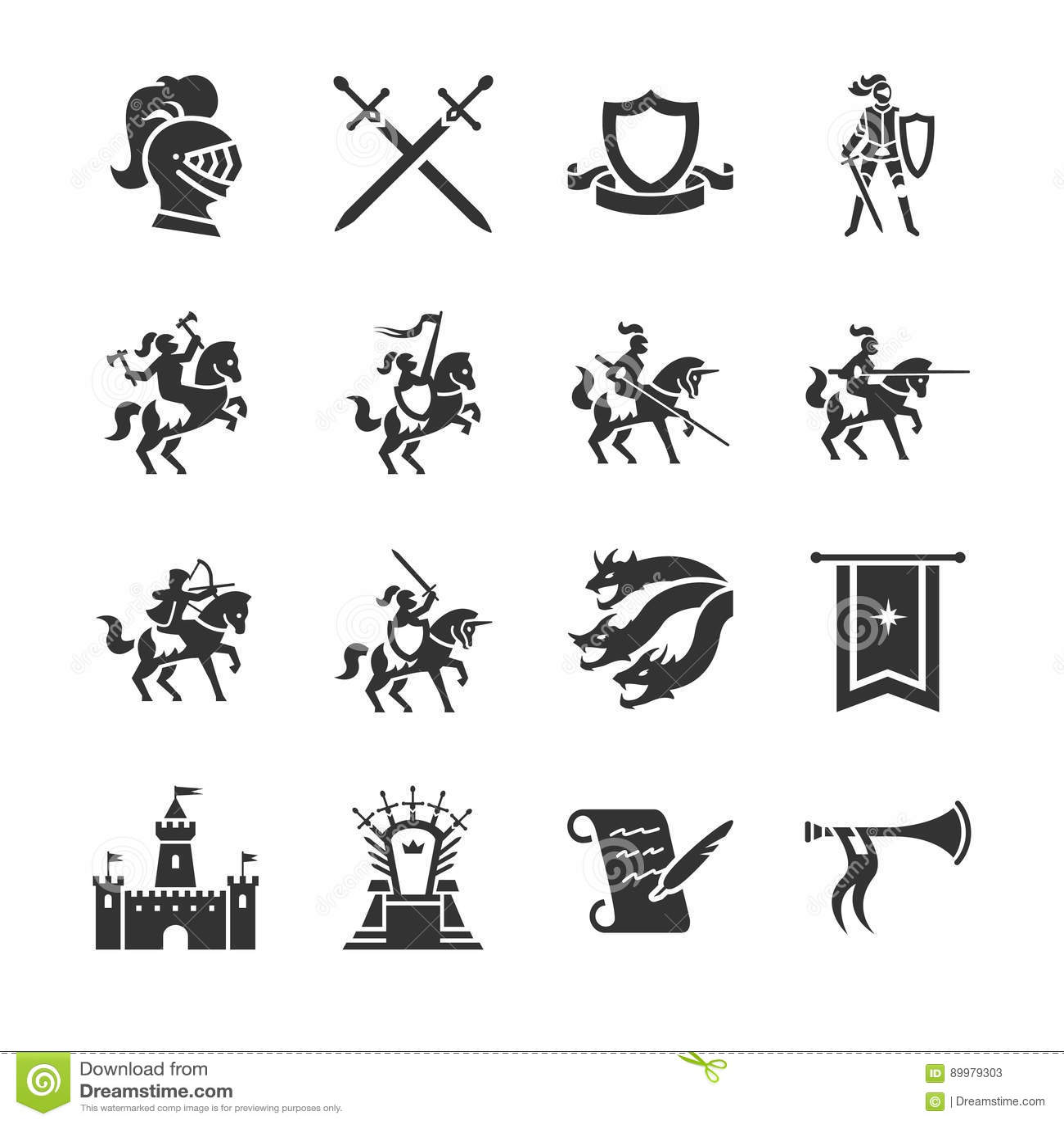 L icône de Moyens Âges