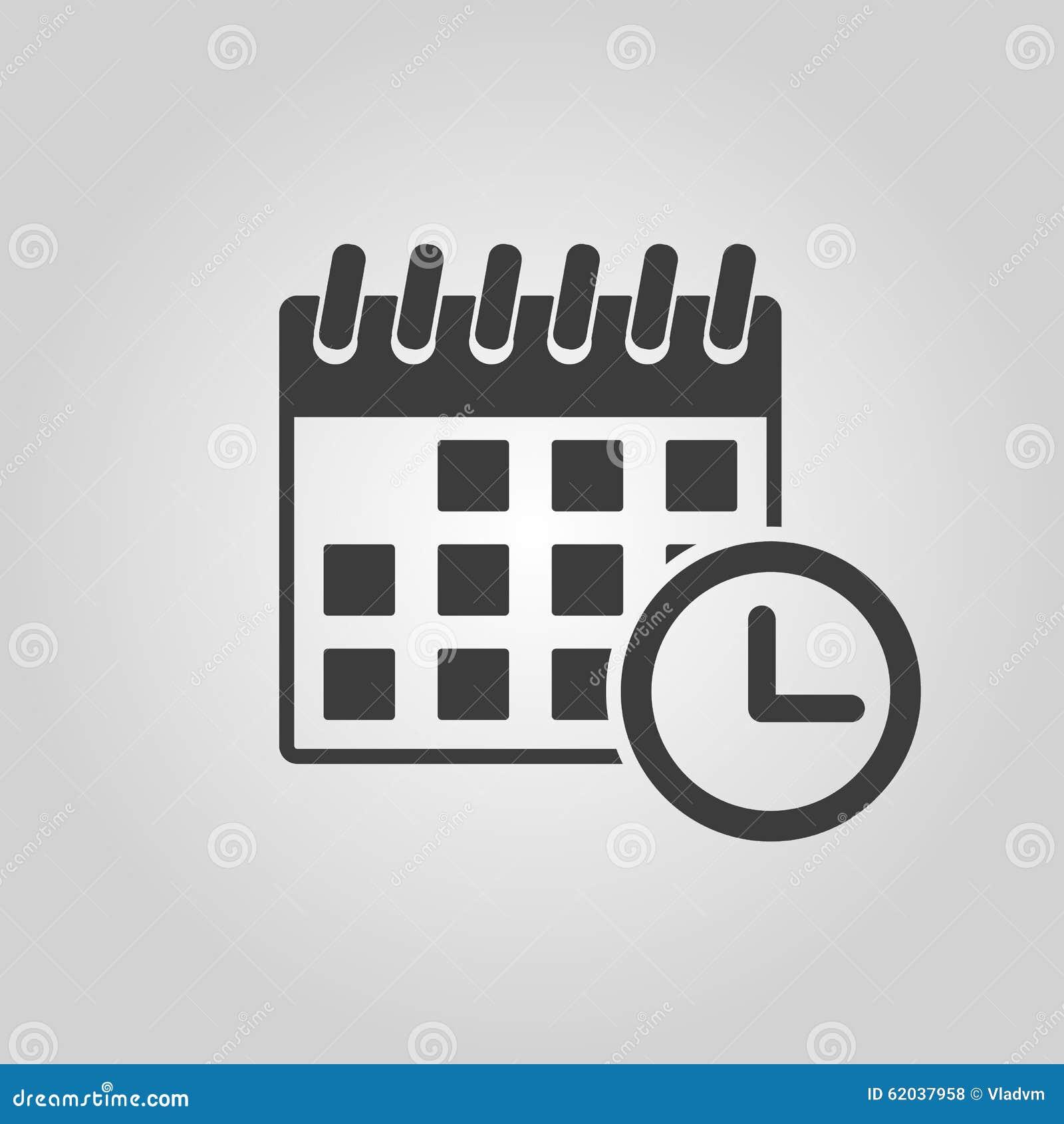 Simbolo De Calendario.L Icona Del Calendario Ricordo Ed Evento Simbolo Di Tempo