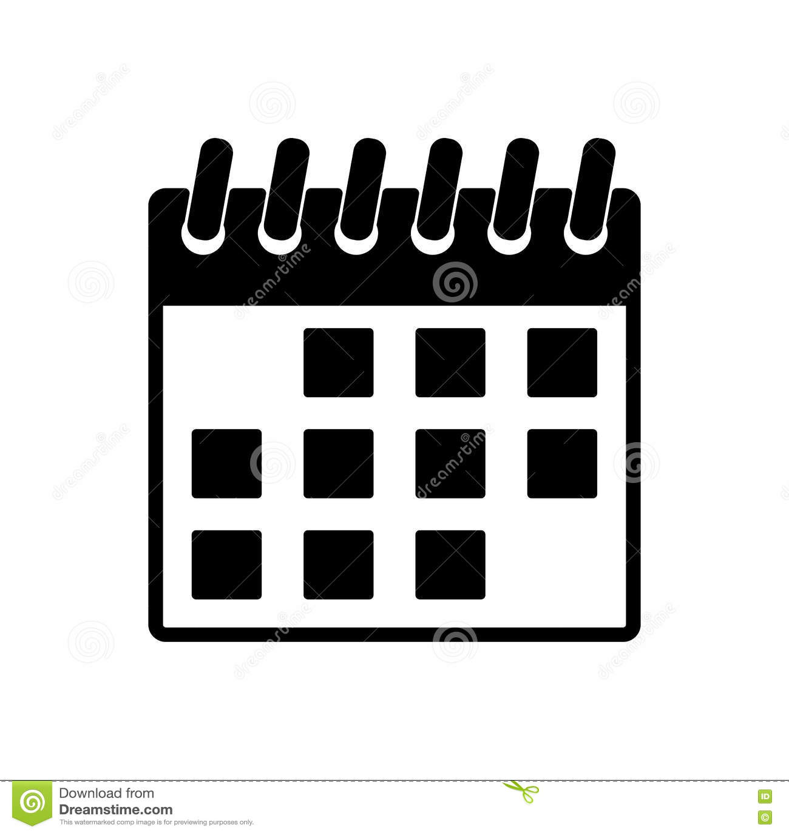 Simbolo Calendario.L Icona Del Calendario Simbolo Del Calendario Illustrazione