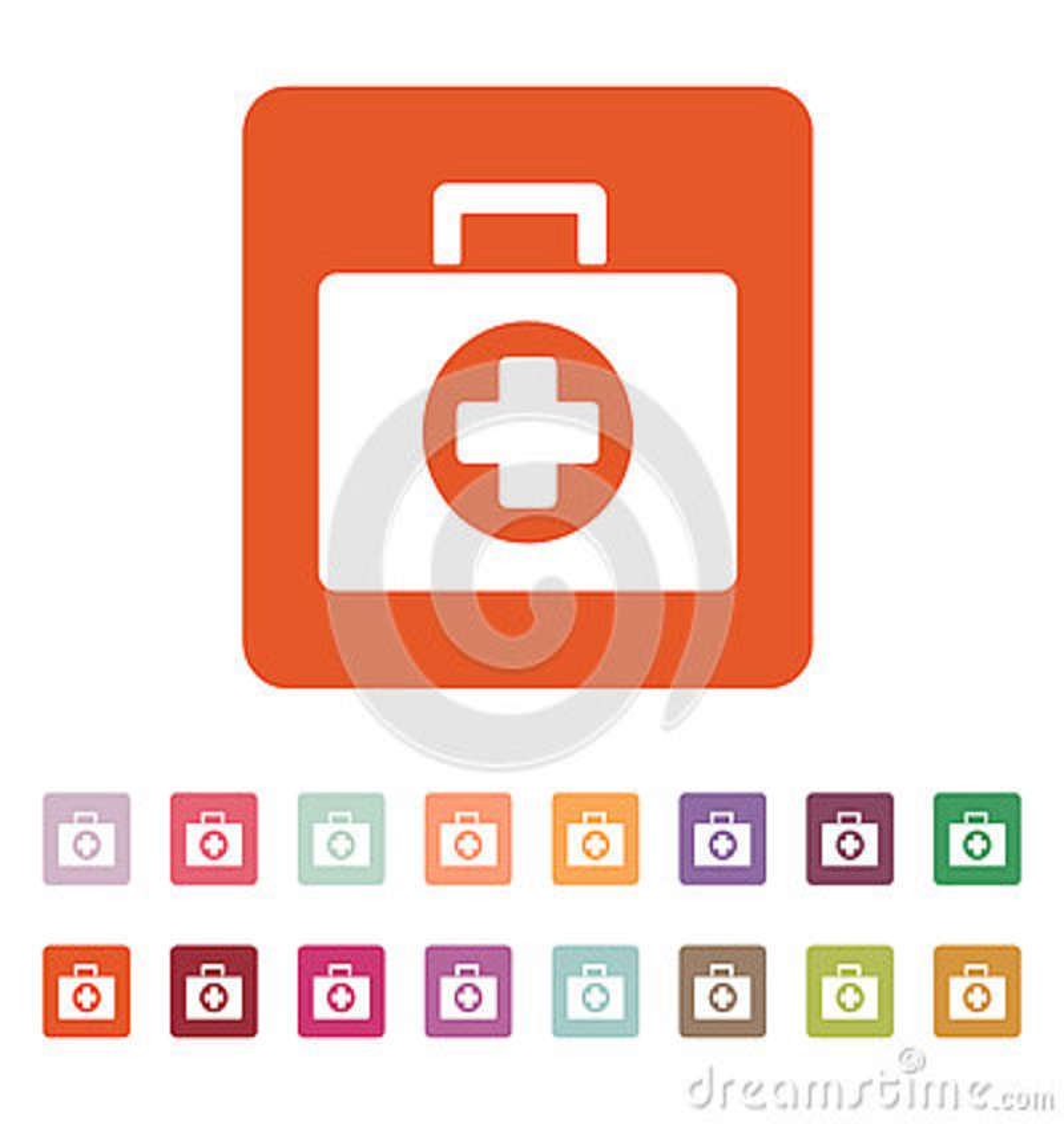 L Icona Della Cassetta Di Pronto Soccorso Simbolo Dell Ambulanza