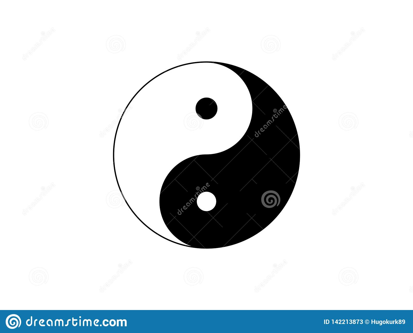 L icona di simbolo di Yin Yang ha isolato