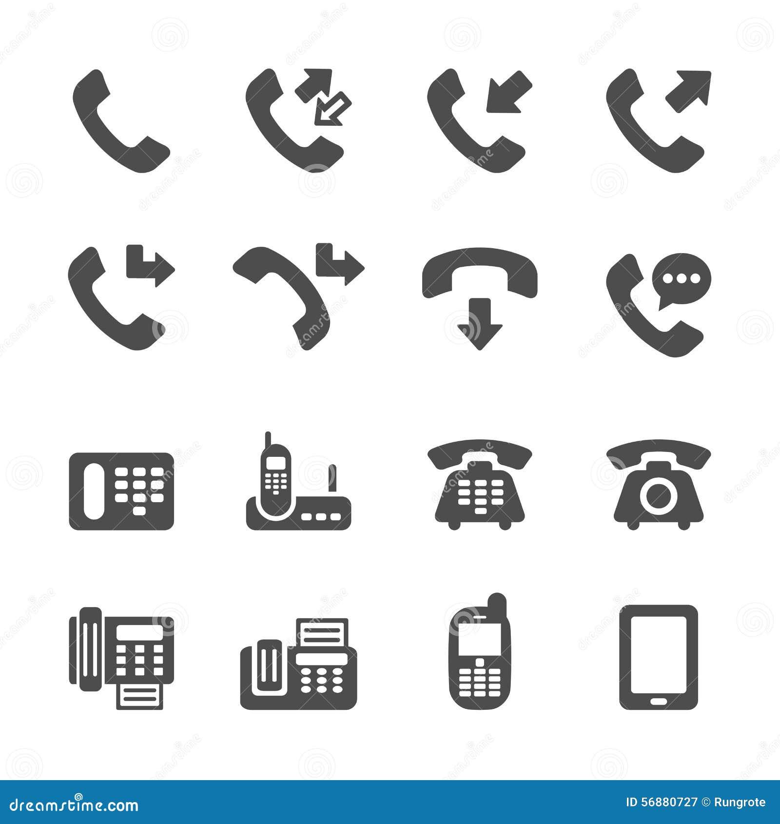 L icona di telefonata ha messo 4, il vettore eps10