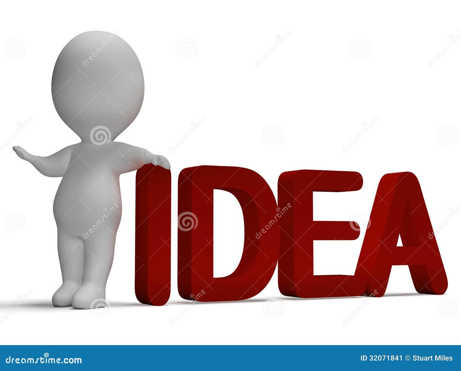 l 39 id e word et 3d quipent de la pens e et l 39 invention de repr sentation illustration stock. Black Bedroom Furniture Sets. Home Design Ideas