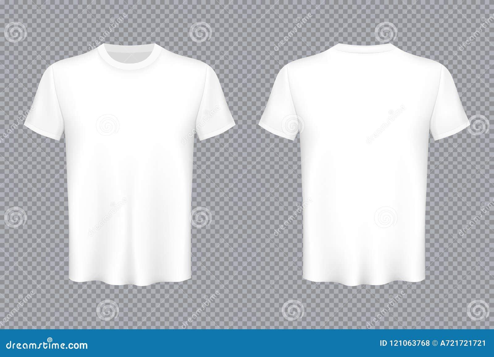 L illustration créative de vecteur du T-shirts coloré a placé d isolement sur le fond transparent Maquette de blanc de conception
