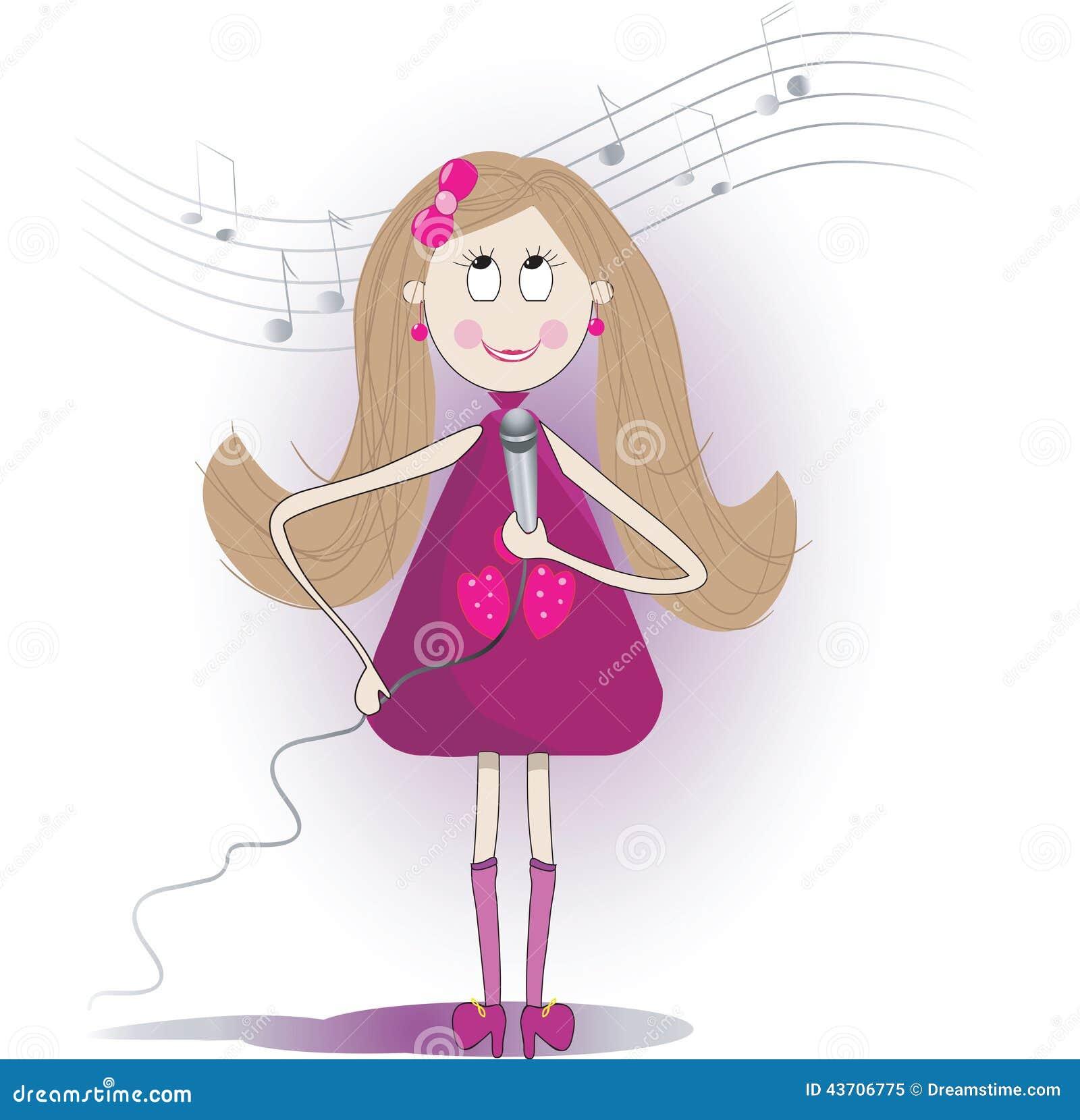 Une fille chante pour son homme en europe 7