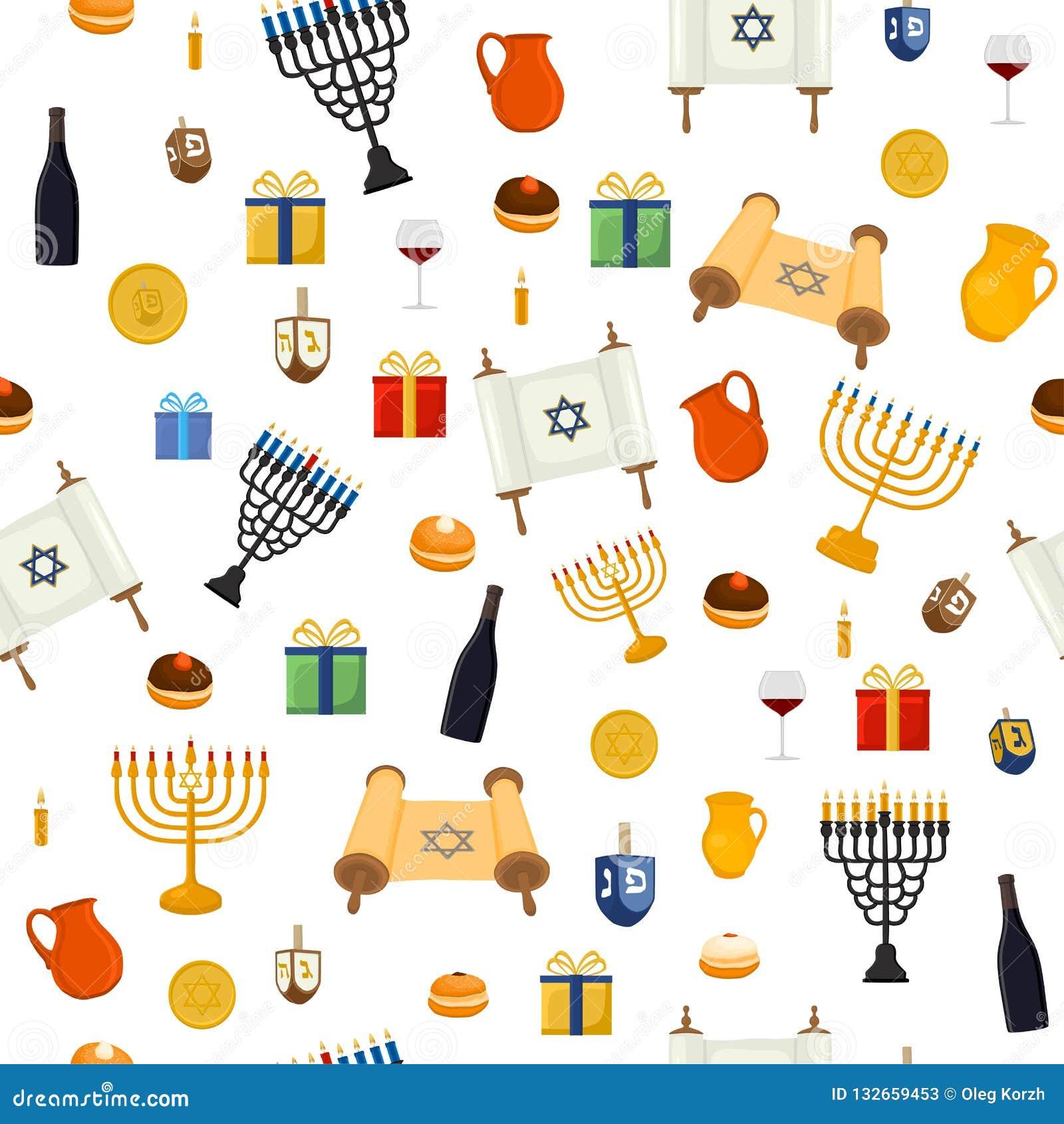 L illustration de vecteur pour Hanoucca est de grandes vacances juives