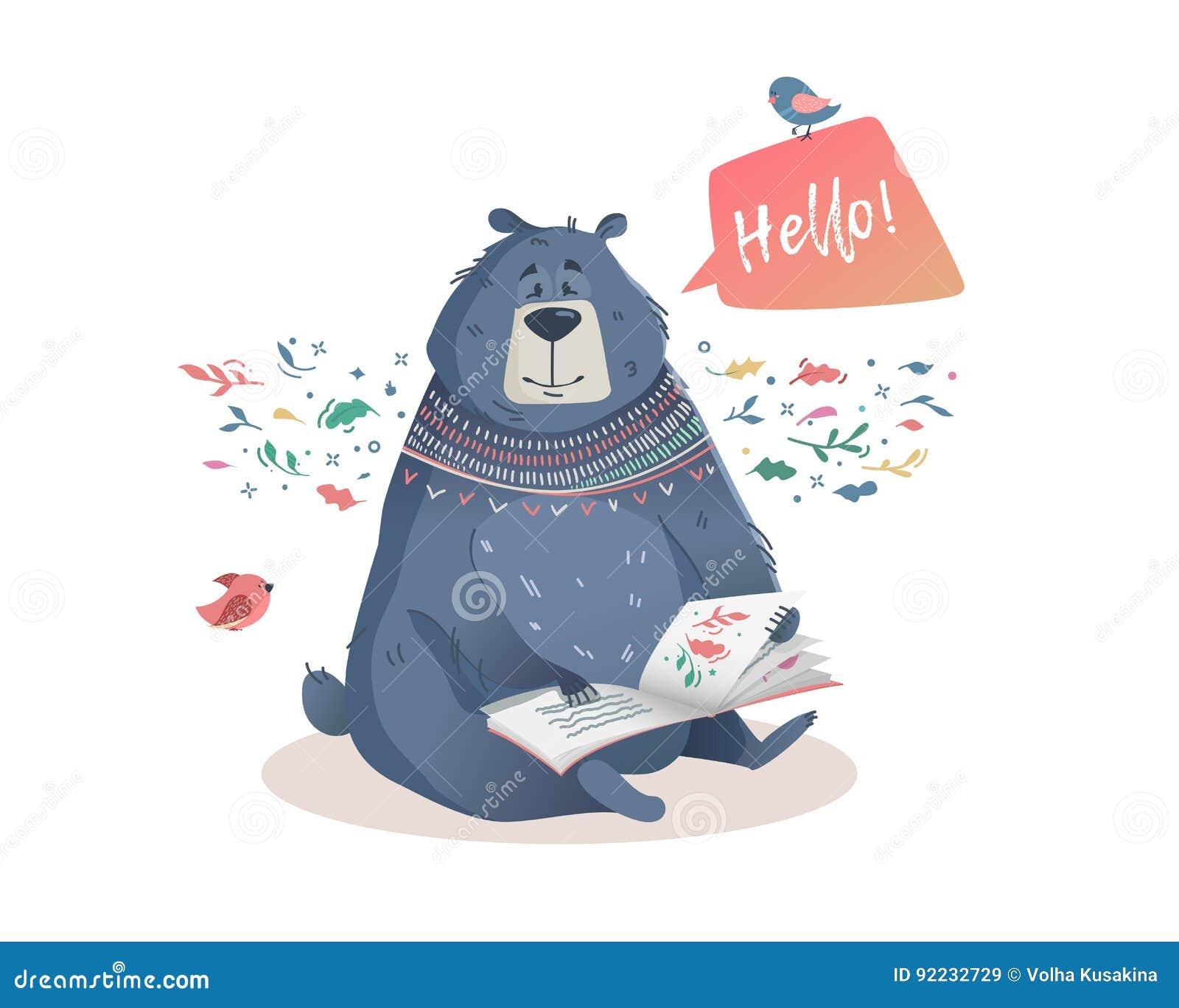 L Illustration Des Enfants D Un Ours Avec Des Contes De Fees