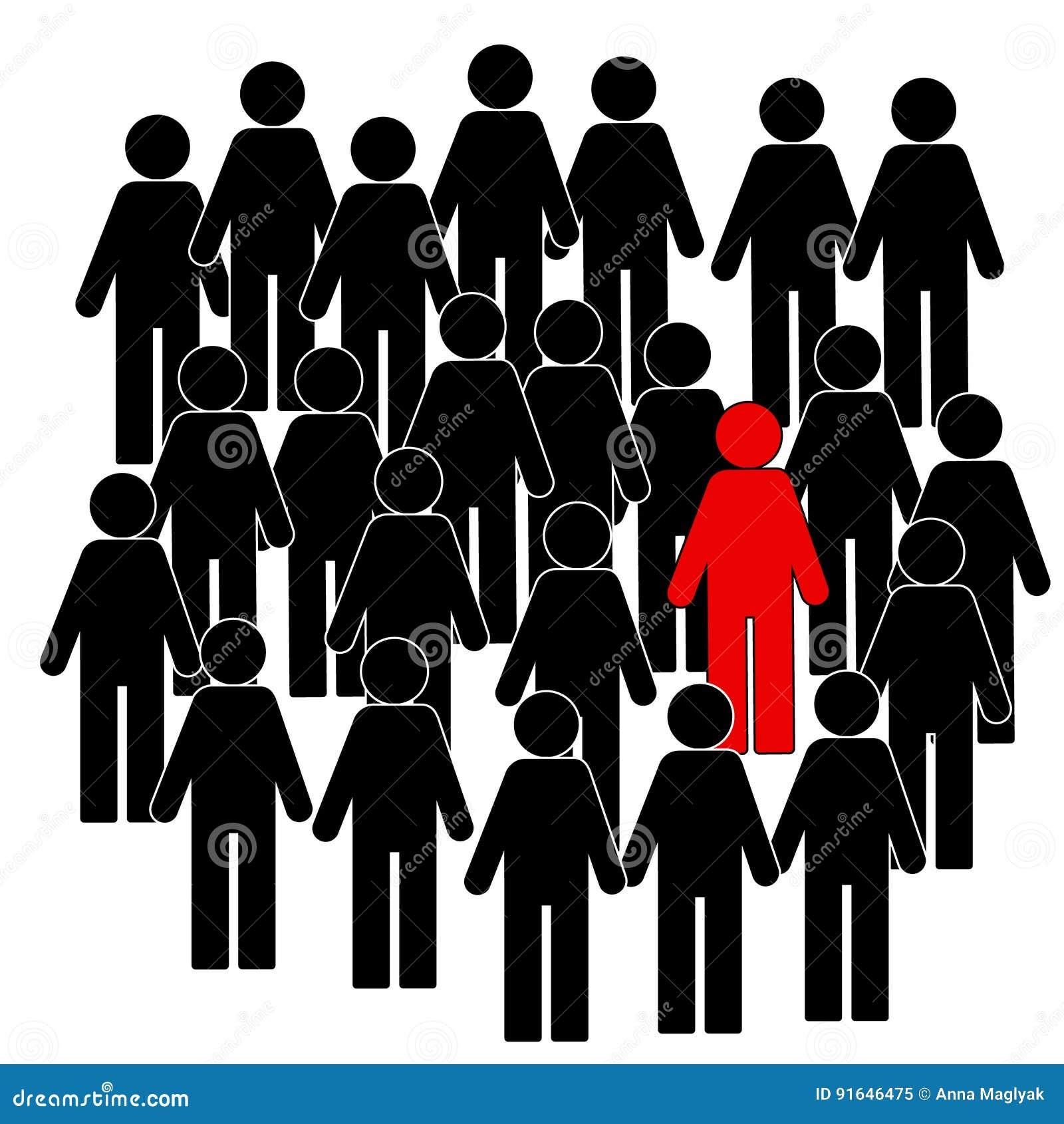 L illustrazione delle icone della gente, pensa differente, illustrazione