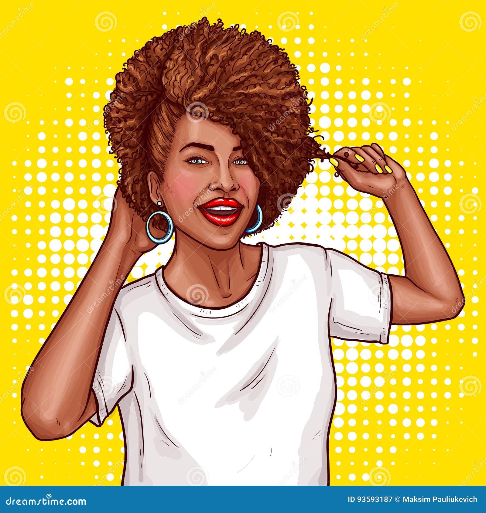 L'illustrazione Di Pop Art Di Vettore Di Una Donna Di ...