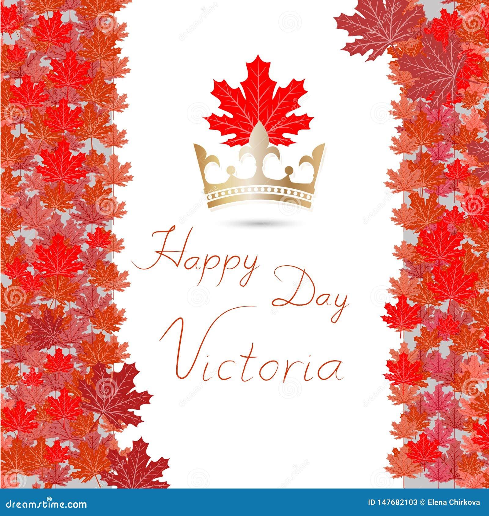 L illustrazione di vettore di felice celebra Victoria Day