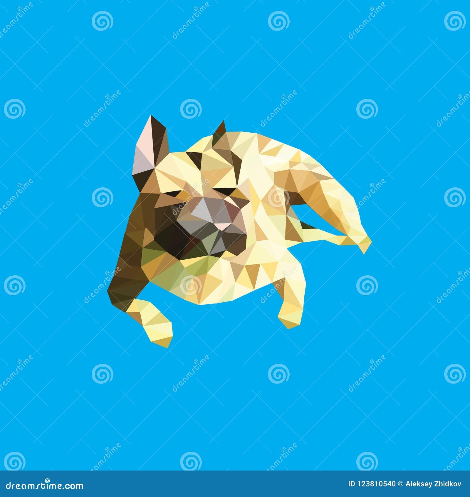 L image de vecteur d une silhouette d un chien multiplie un bouledogue français sur un fond bleu