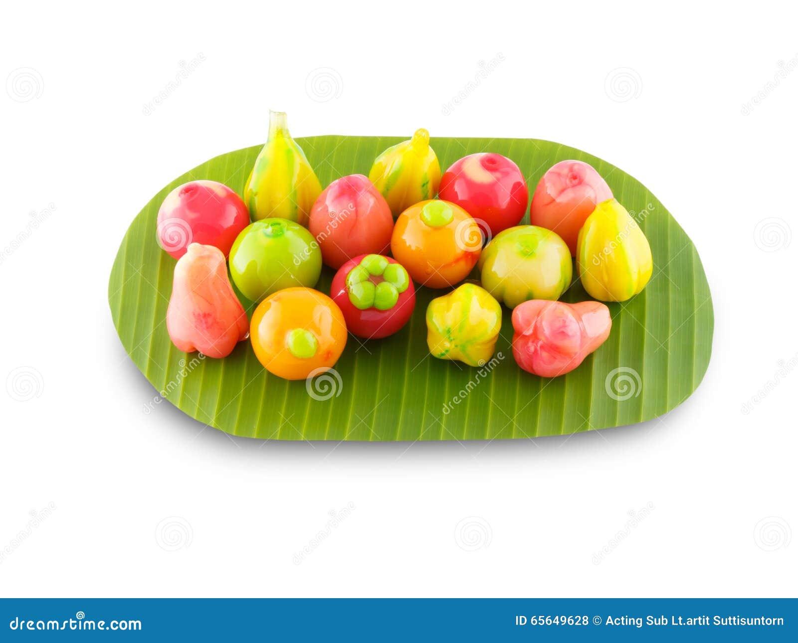 L imitation supprimable porte des fruits dessert thaïlandais
