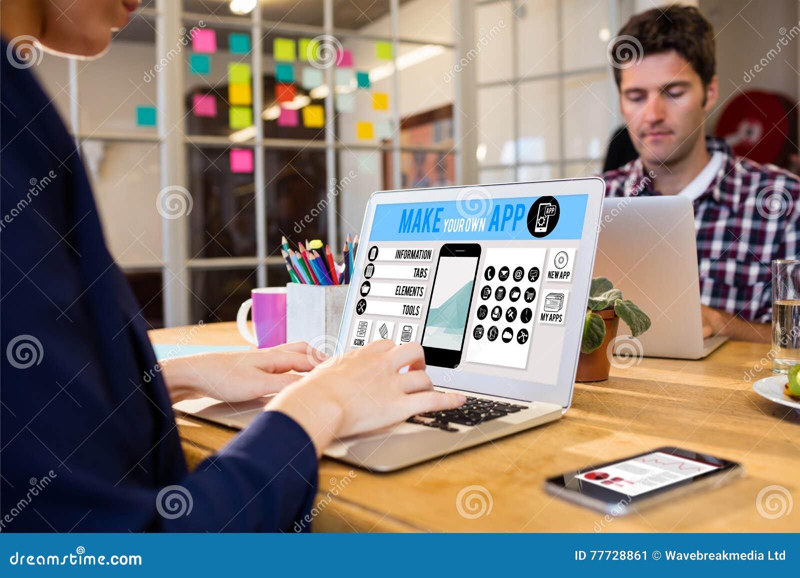 L immagine composita di fa il vostro proprio smartphone di app
