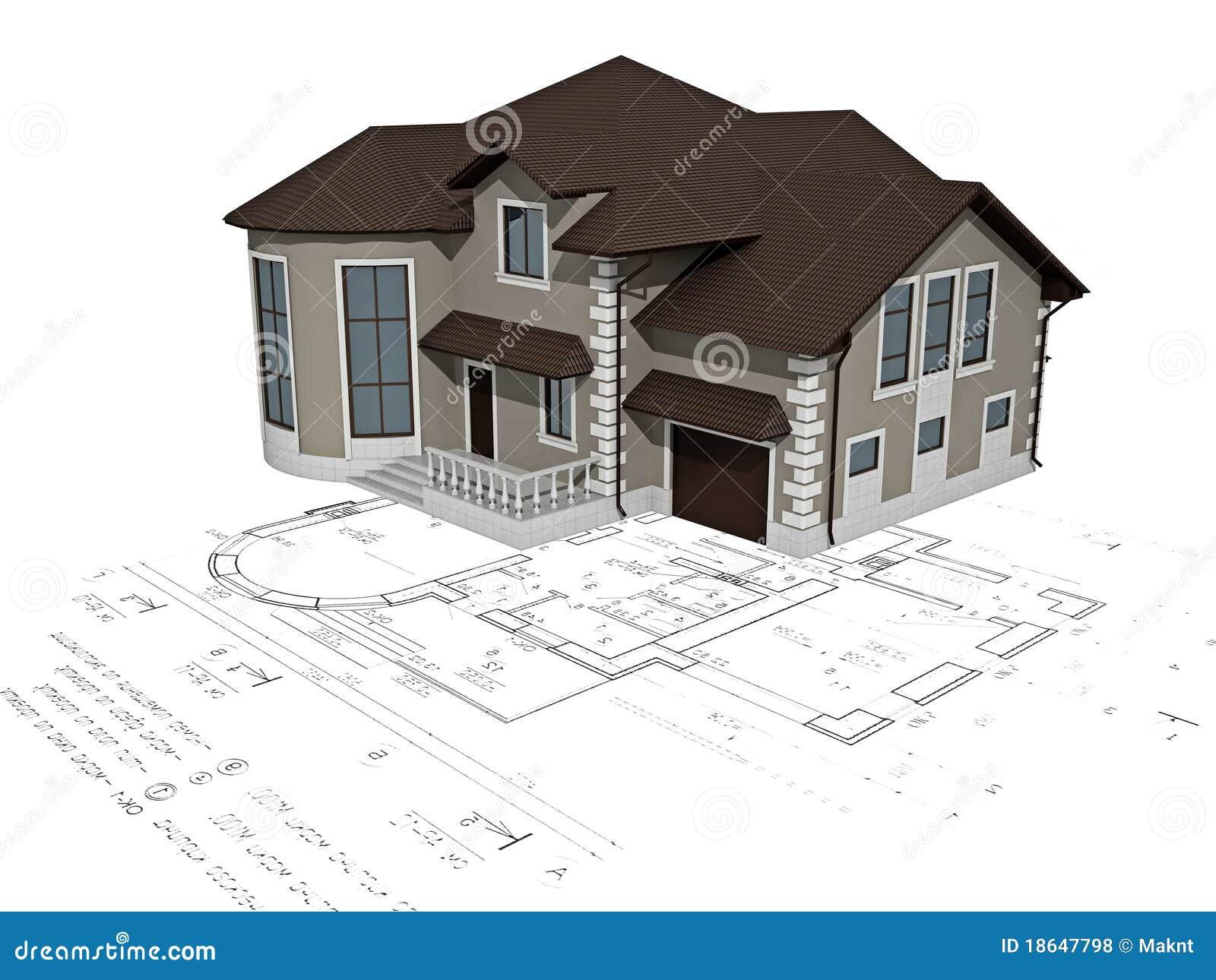 L 39 immagine della casa 3d sul programma illustrazione di for Programma 3d casa