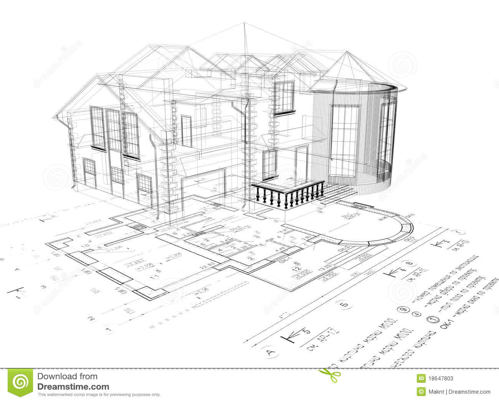 L 39 immagine della casa 3d sul programma fotografie stock for Programma della mappa della casa