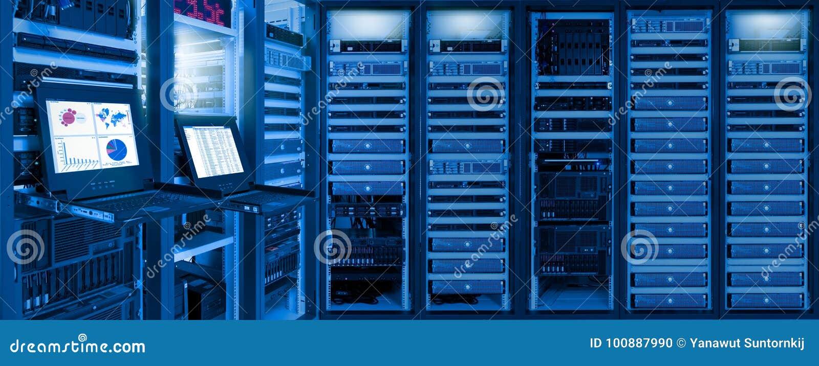 L information du trafic réseau et statut de dispositifs dans la chambre de centre de traitement des données