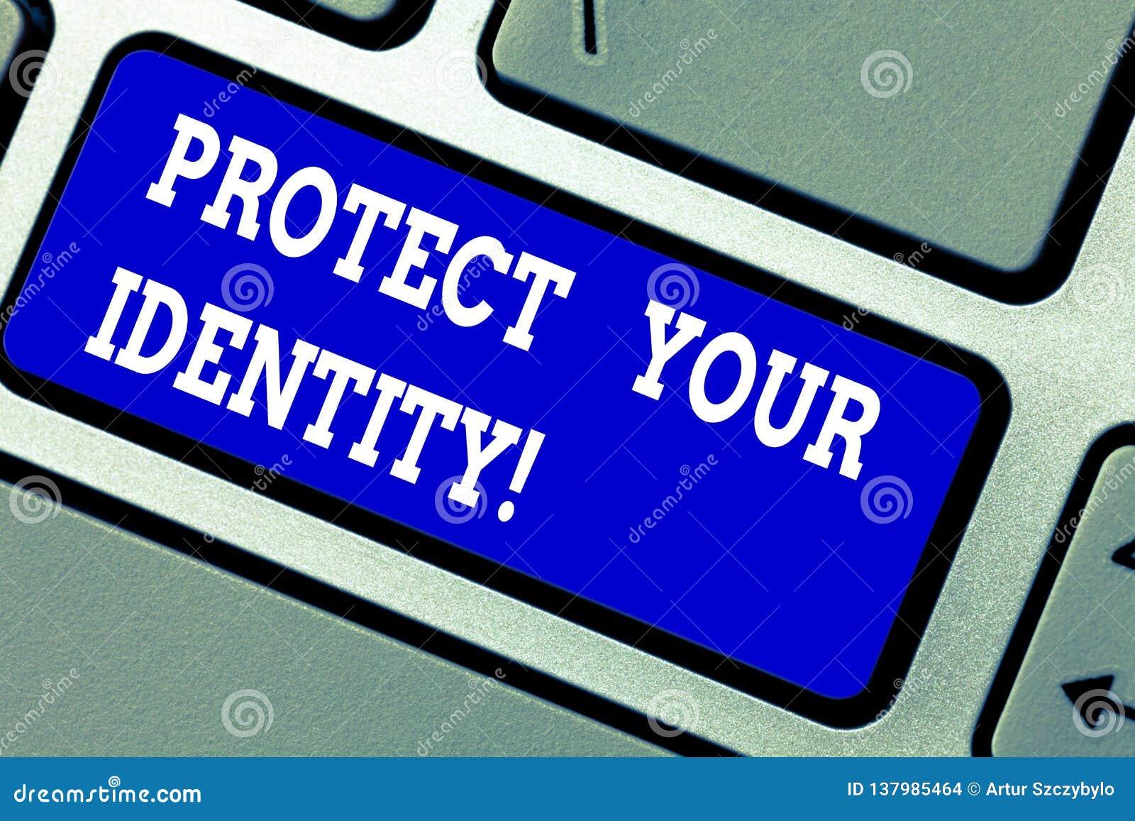 L inscription des textes d écriture protègent votre identité Signification de concept permettant l intimité sur votre clavier soc