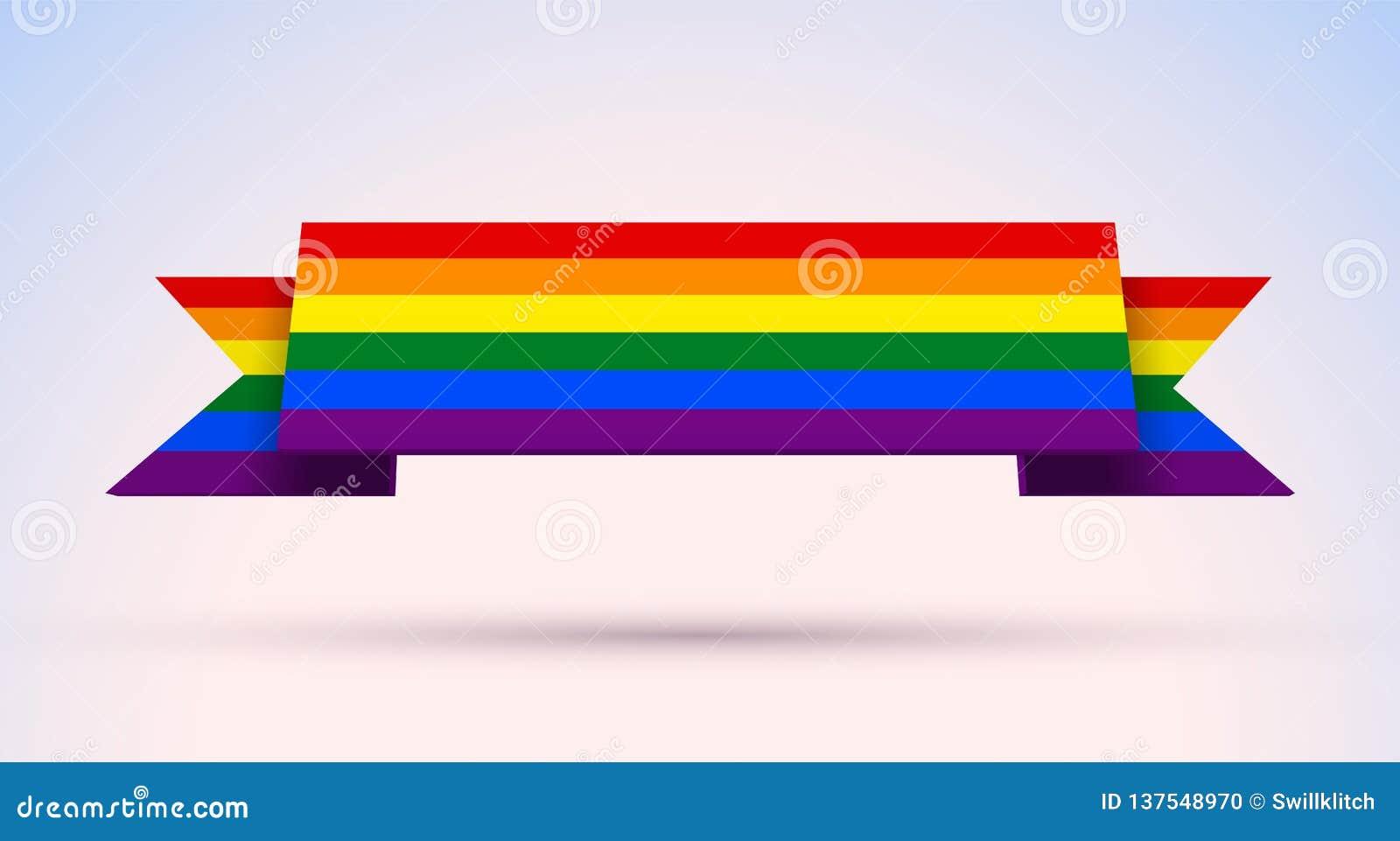 L insegna di gay pride con l arcobaleno ha colorato la bandiera per Pride Month
